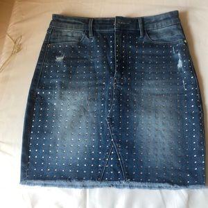 Bebe sequenced denim skirt